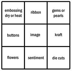 Lisa's bingo board