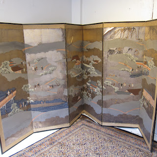 Hand-Painted Folding Screen