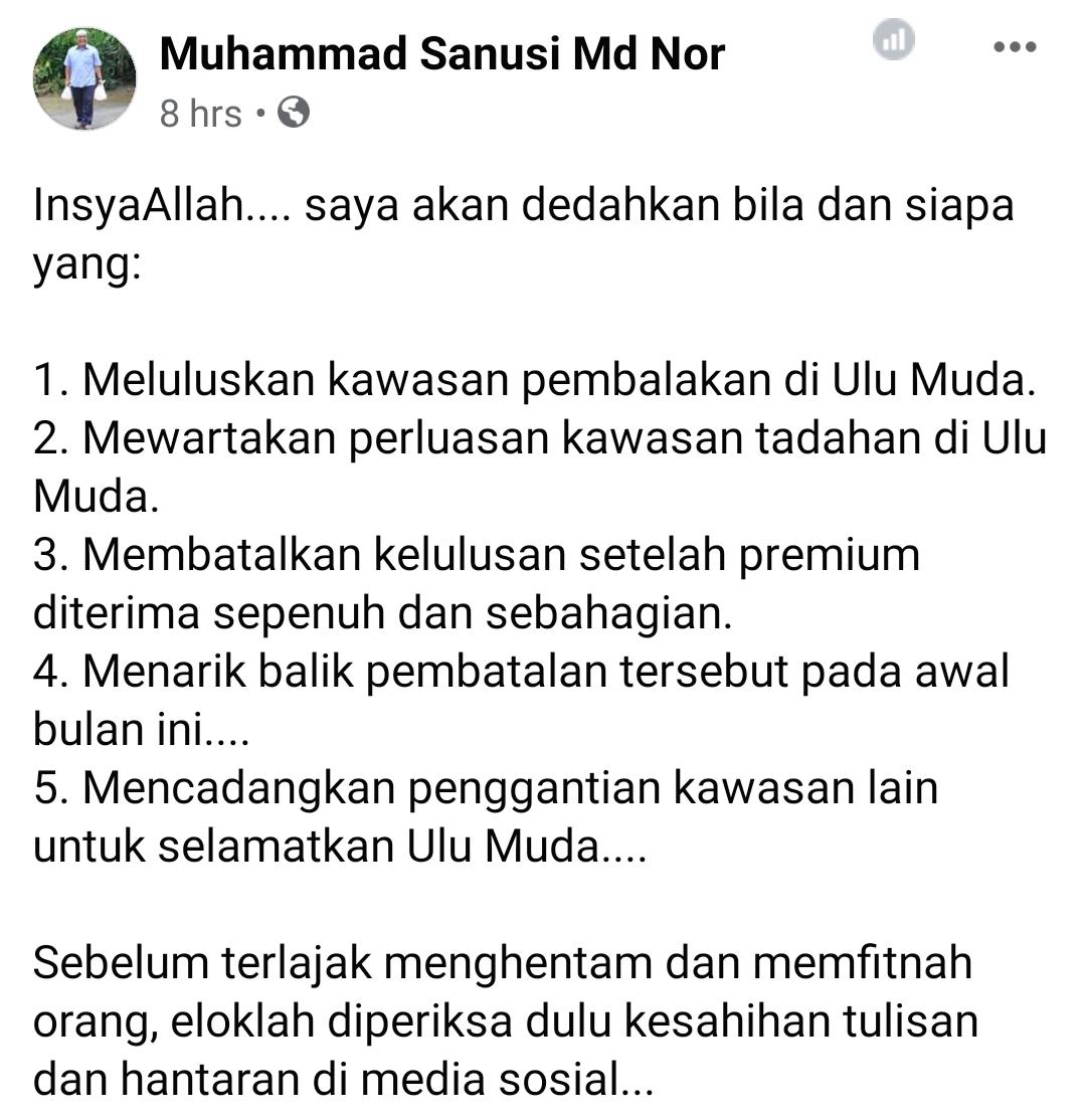 Terkini! MB Kedah Baru akan dedahkan segala jawapan berkaitan isu pembalakkan di Ulu Muda dan siapa yang tarik balik pembatan.
