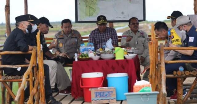 Wagub Kalteng Tinjau Progres Saluran Irigasi di Kawasan Food Estate Dadahup