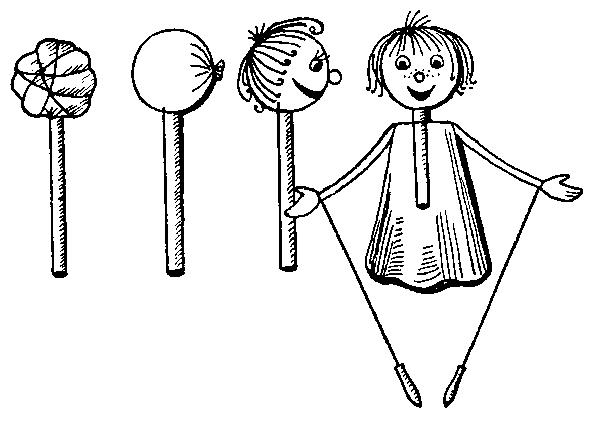 Практические занятия по изготовлению простейшей перчаточной куклы