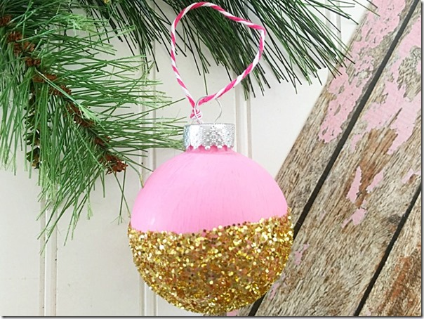 DIY-Pink-and-Gold-Christmas-Ornament