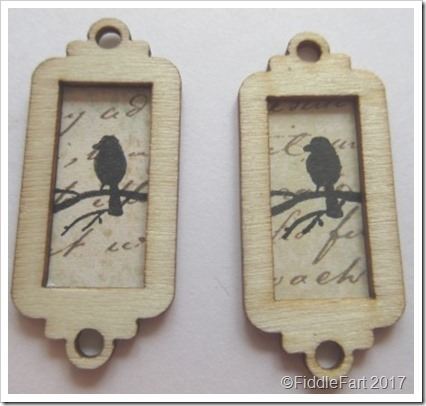 Tiny Wooden Bird Tag. a