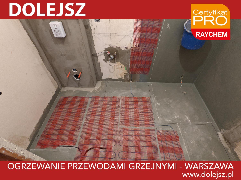 Ogrzewanie podłogowe i ścienne matą grzejną w łazience