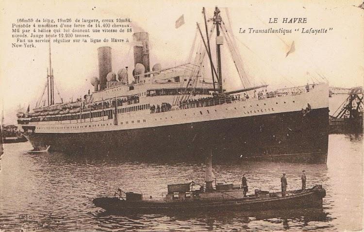 1-El vapor LAFAYETTE en Le Havre. Coleccion Arturo Paniagua.jpg
