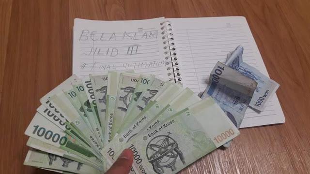 Para bmi di korea donasikan uang untuk bela islam III
