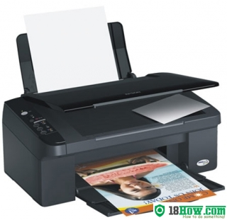 How to reset flashing lights for Epson TX135 printer
