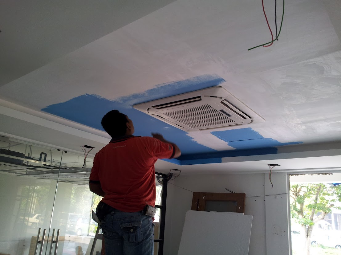 painting plaster ceiling