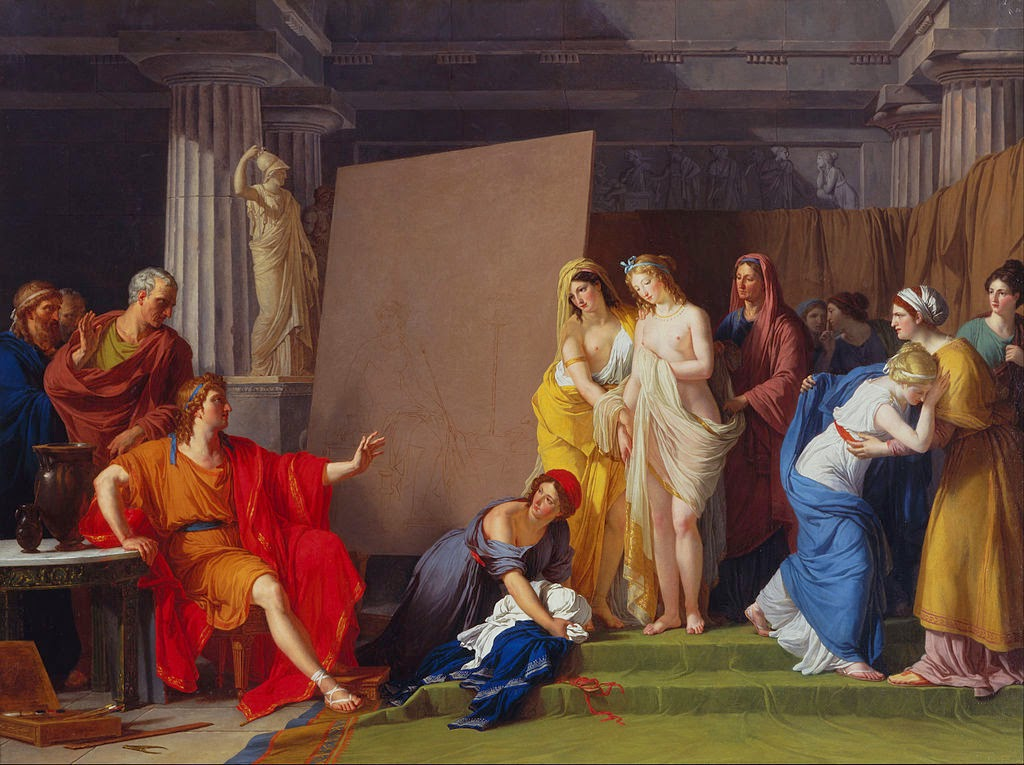François-André Vincent - Zeuxis Choosing his Models for the Image of Helen from among the Girls of Croton - Google Art Project