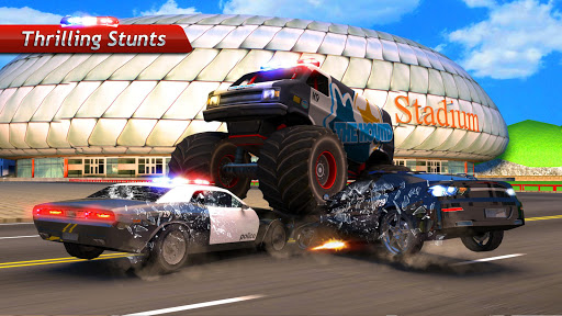 police chase monster car apk download