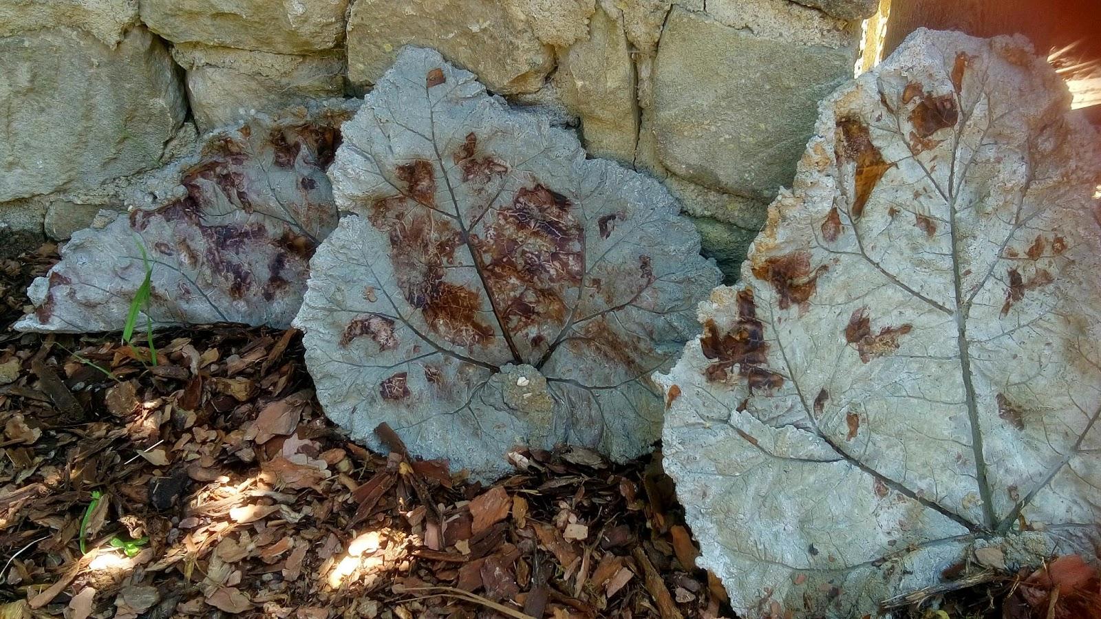 Kreativrebell gartendekoration bl tter aus beton - Gartendekoration aus beton ...