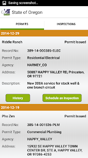 Oregon ePermitting Inspections- screenshot thumbnail