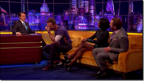 The Jonathan Ross show Coldplay Simon Pegg30