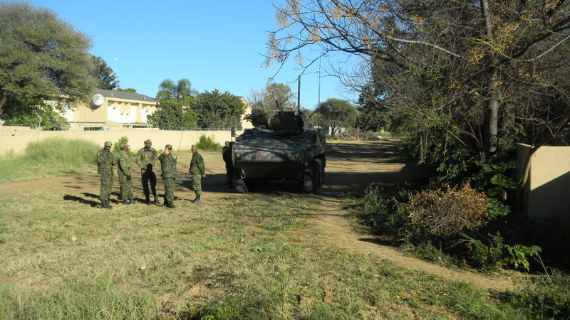 Botswana Defense Force here to protect the first lady