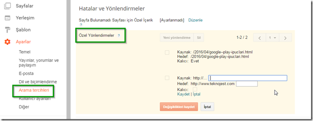 blogger-ozel-yonlendirme