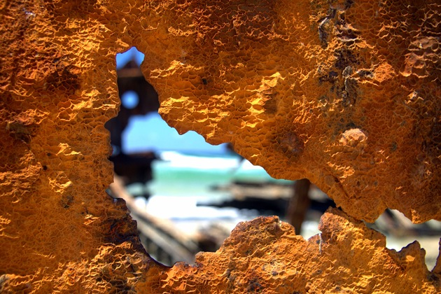 Rusted Metal Fraser Island Shipwreck