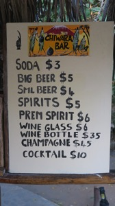 Bar Prices