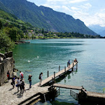 great place for photography at Chillon Castle in Switzerland in Veytaux, Vaud, Switzerland