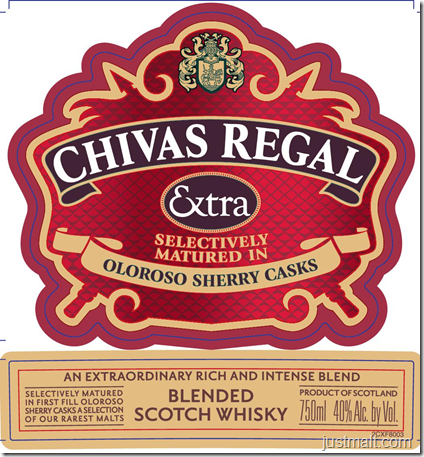 Chivas Regal Extra Selectively Matured In Oloroso Sherry Casks