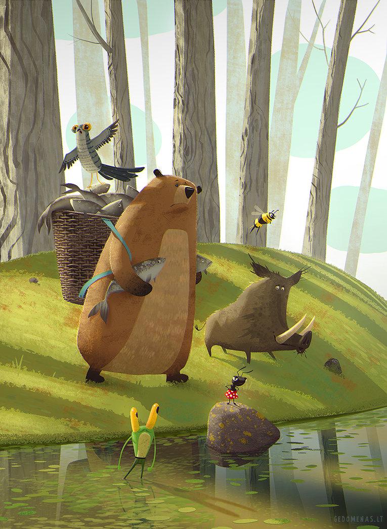 Children book Illustration by gedomenas1