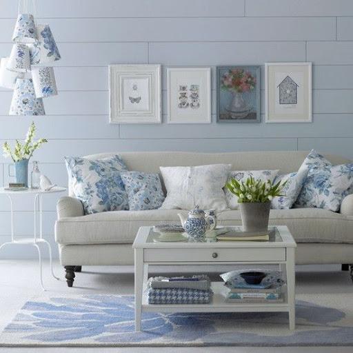 Sala de Estar azul serenity