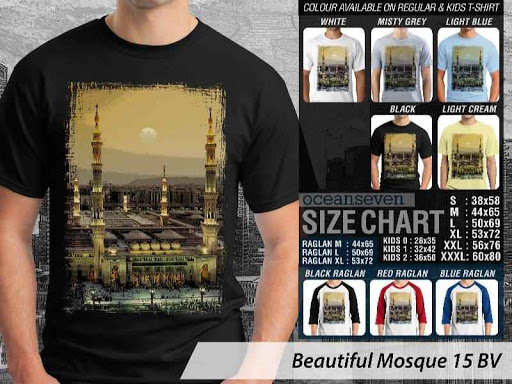 Kaos Muslim Islam Beautiful Mosque 15 distro ocean seven