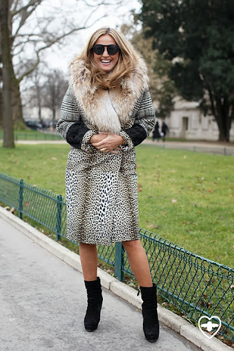 Marigay McKee; President Sacks 5th Avenue; Ungaro coat; Lady Gaga Glasses; Alaia boots;