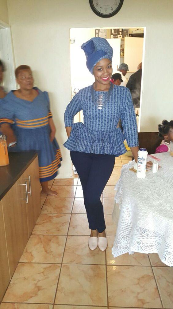 LESOTHO SHWESHWE DRESSES STYLES 1