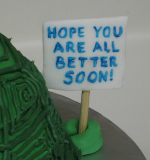 3D Turtle Cake - Close-up of Sign 2