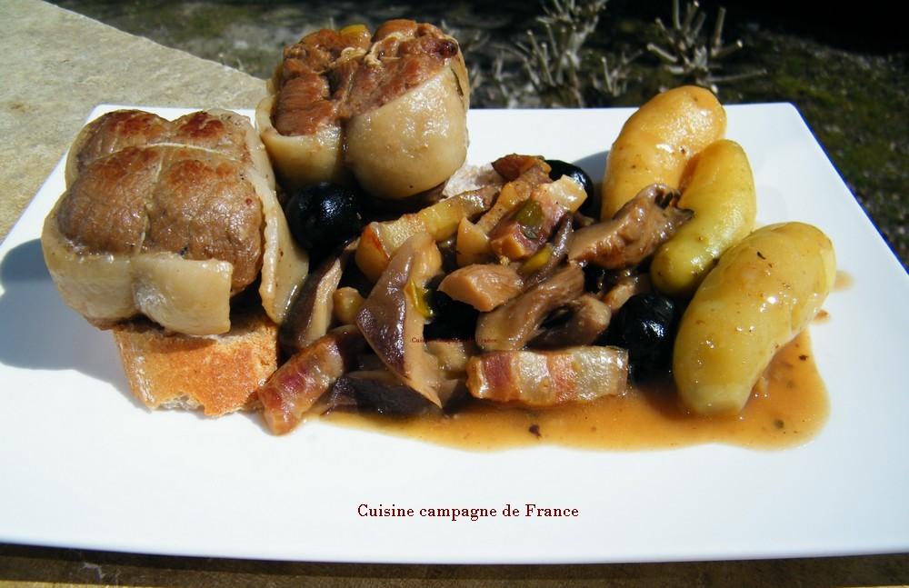 Cuisine et campagne de france paupiettes de veau au vin blanc et aux champignons - Paupiette au vin blanc ...