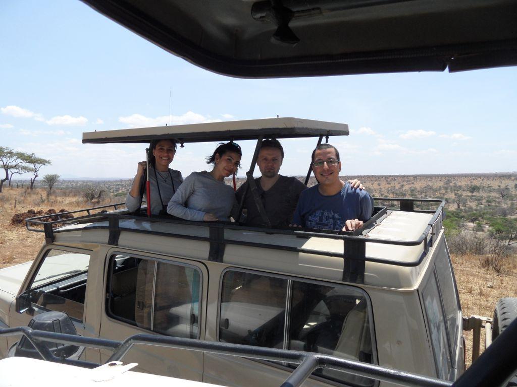 Safari aracındaki halimiz