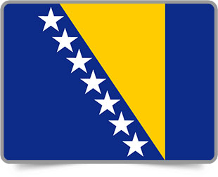 Bosnian  framed flag icons with box shadow