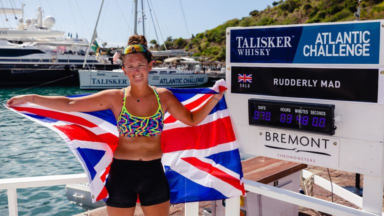 21 year old becomes youngest female to row solo across the Atlantic Ocean in 70 days