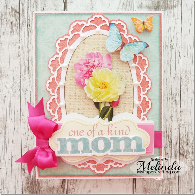 Paper House Sliced Mother's Day 3D Sticker Card