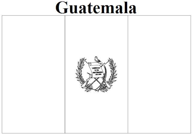 Guatemala Flag Coloring Page on United States Map Of Capitals