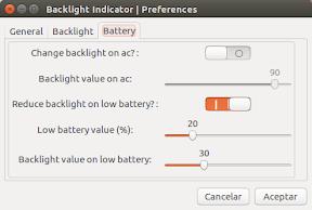 Como ajustar el brillo y aumentar la batería en Ubuntu - configuración 3
