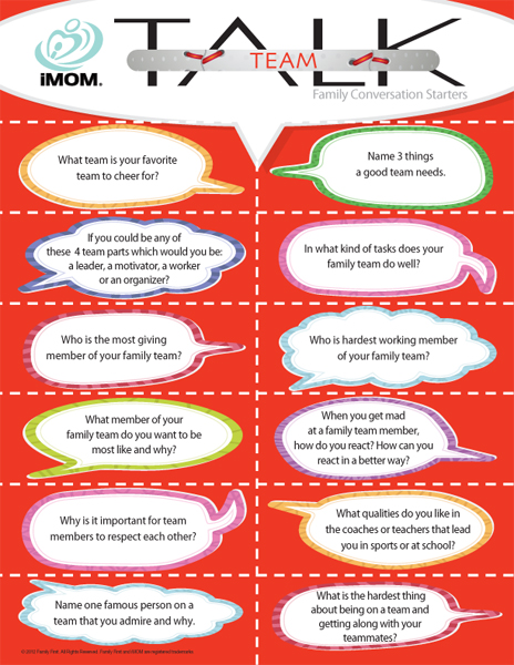 iMom Team Talk Family Conversation Starter Cards