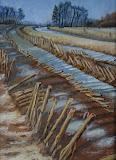 Rheeveld I - 13 x 18 cm - olieverf op oliepapier