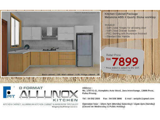 D Format Allunox Kitchen The One Studio Cabinet Aluminium Wardrobe Specialist