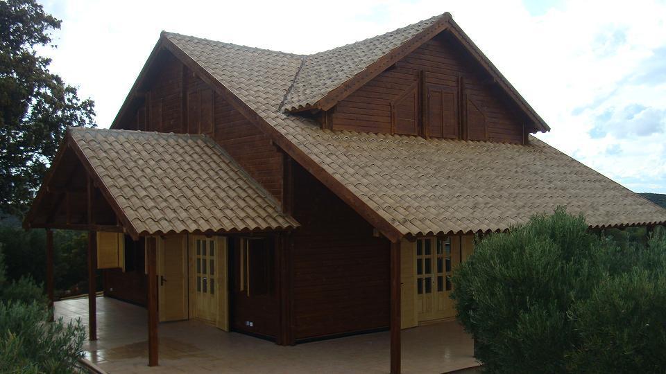 Casas de estructura de madera o de madera maciza machihembrada - Casas de madera nordicas ...