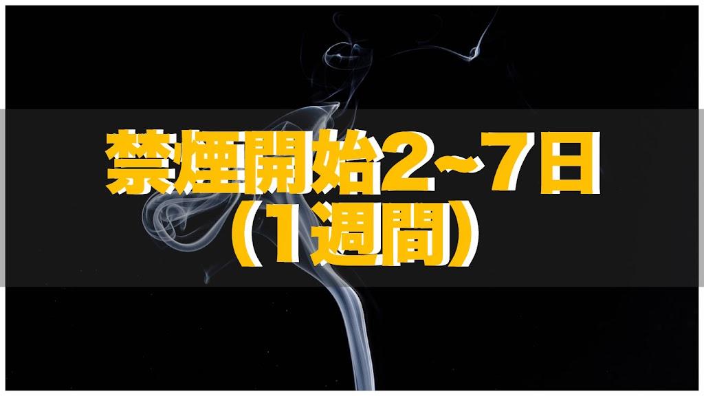 禁煙開始2日〜7日目の体の変化 | 禁煙1週間で定説全てが懐疑的に