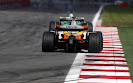 Fernando Alonso, Renault R28 chases Jenson Button, Honda RA108
