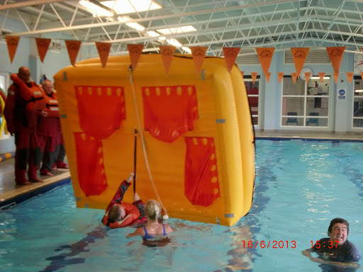 Sea Survival - Righting the life raft.JPG