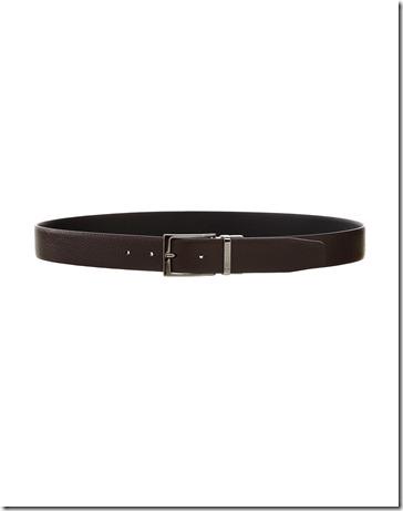 Trussardi Cintura pelle Fibia Squadrata Reversibile