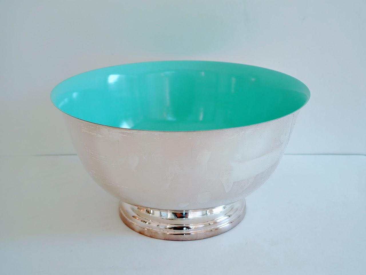 Oscar de la Renta Home for Lunt Silver & Blue Bowl