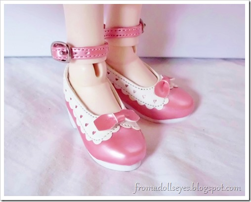 Bjd shoe haul for Alice's Collections.  SH354 msd shoes in pink.