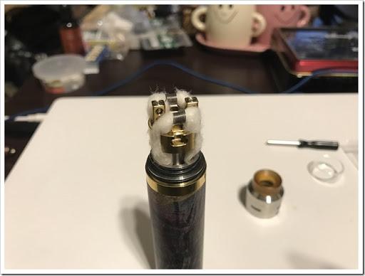 IMG 4426 thumb - 【爆煙小僧必見】IJOY RDTA 5S Tankレビュー!漏れ防止には頑張るしかないRDTAだけど、ボトムやサイドで味を変えれる万能RDTAでもありまする!スカスカドローで爆煙小僧となれ!