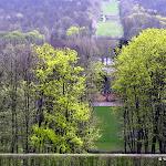"""Observatoire de Meudon : Observatoire de Meudon : grande perspective, vue sur le """"Tapis vert"""" créé par Le Nôtre"""