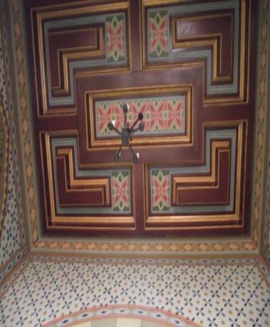 Detalhes do teto da Capela