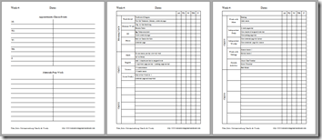Homeschool planning pages template b&w 1